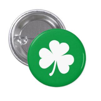 Trébol irlandés adaptable pin redondo de 1 pulgada