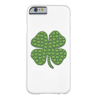 Trébol irlandés afortunado funda para iPhone 6 barely there