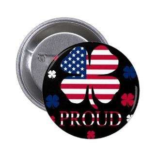 Trébol Irlandés-Americano de la hoja de la suerte  Pins