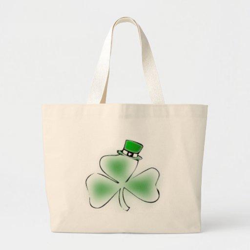 Trébol irlandés bolsa tela grande