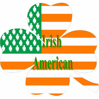 Trébol irlandés de la bandera americana llavero fotográfico