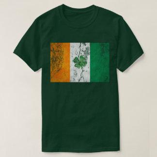 Trébol irlandés de la bandera (apenado) camisas