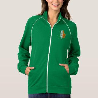 Trébol irlandés de la bandera apenado chaqueta deportiva imprimida