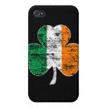 Trébol irlandés de la bandera (apenado) iPhone 4/4S carcasa