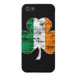 Trébol irlandés de la bandera (apenado) iPhone 5 coberturas