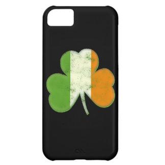 Trébol irlandés de la bandera del vintage carcasa iPhone 5C
