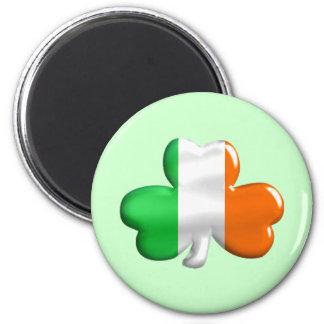 Trébol irlandés de la bandera imán redondo 5 cm