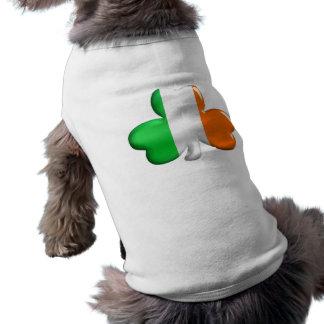 Trébol irlandés de la bandera playera sin mangas para perro