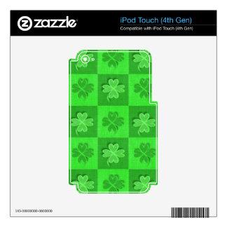 Trébol irlandés de la Cuatro-Hoja iPod Touch 4G Calcomanías
