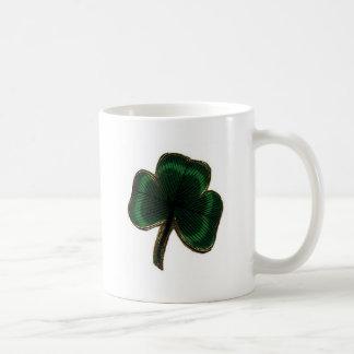 Trébol irlandés del trébol del orgullo del vintage taza clásica