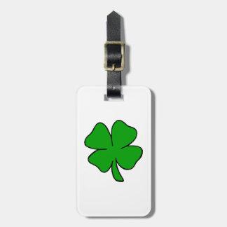 Trébol irlandés etiquetas para equipaje