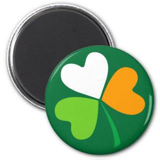 Trébol irlandés imán redondo 5 cm