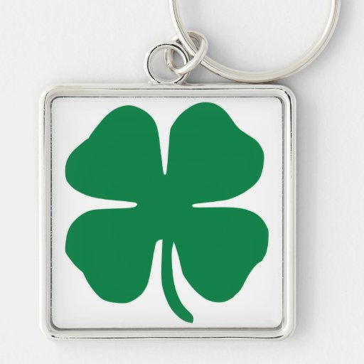 Trébol irlandés llavero personalizado