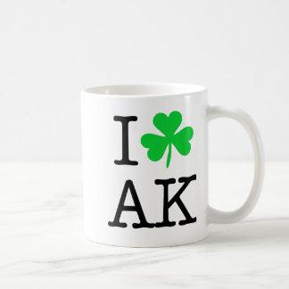 Trébol irlandés orgulloso Alaska AK Taza