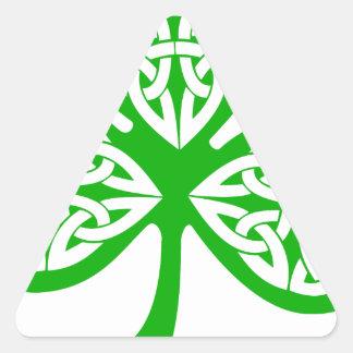 Trébol irlandés colcomanias trianguladas personalizadas