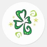 Trébol irlandés pegatinas