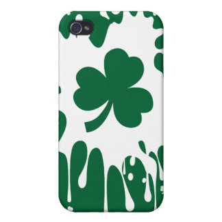 ¡Trébol irlandés Splat! iPhone 4 Fundas