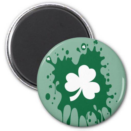 ¡Trébol irlandés Splat! Imán Para Frigorífico
