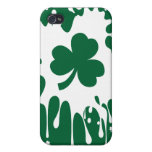 ¡Trébol irlandés Splat! iPhone 4/4S Funda