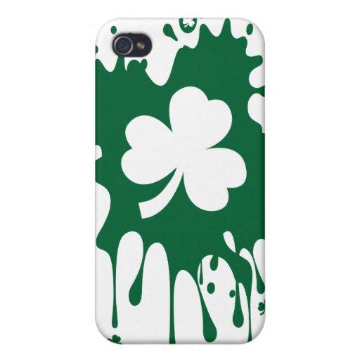 ¡Trébol irlandés Splat! iPhone 4 Protector