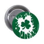 ¡Trébol irlandés Splat! Pin