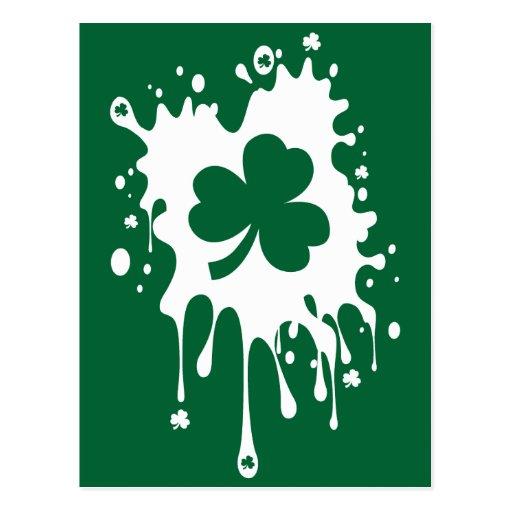 ¡Trébol irlandés Splat! Tarjetas Postales