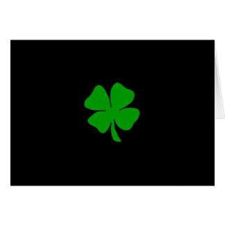 Trébol irlandés tarjeta de felicitación