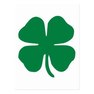 Trébol irlandés tarjeta postal