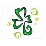 Trébol irlandés tarjetas postales