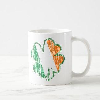 Trébol irlandés tazas de café