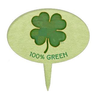 Trébol irlandés - verde del 100% figuras de tarta