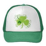 Trébol irlandés verde gorras de camionero