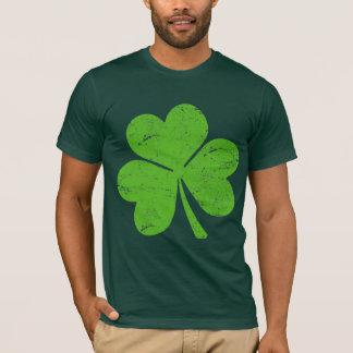 Trébol irlandés verde playera