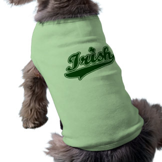 Trébol irlandés verde camisetas de perrito