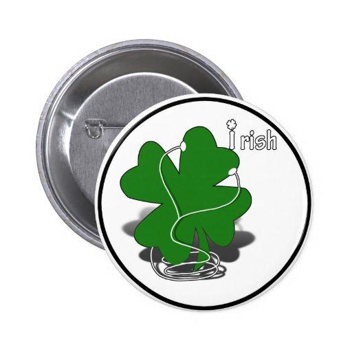 trébol irlandés w/Text Pin