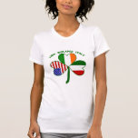 Trébol Italia los E.E.U.U. irlandesa Camiseta