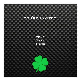 Trébol liso invitación 13,3 cm x 13,3cm