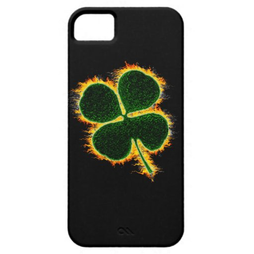 Trébol llameante iPhone 5 Case-Mate carcasas