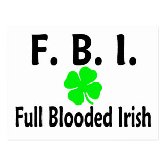 Trébol lleno del irlandés del FBI Blooded Tarjeta Postal
