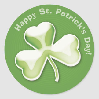 Trébol misterioso: ¡El día de St Patrick feliz! - Pegatina Redonda