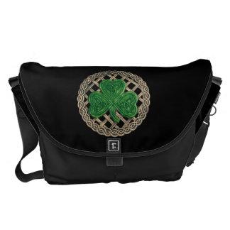 Trébol negro y la bolsa de mensajero grande del nu bolsa messenger