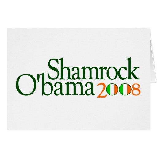 Trébol Obama 2008 Tarjeta De Felicitación
