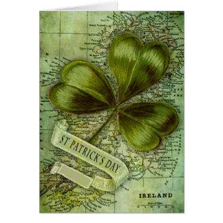 Trébol para Irlanda Tarjeta