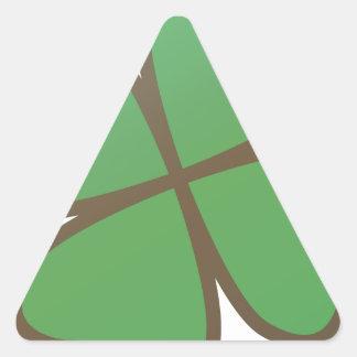 Trébol Calcomanía De Triangulo Personalizadas