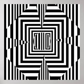Trébol psicodélico de cuatro hojas póster