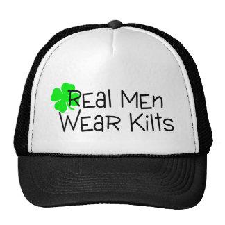 Trébol real de las faldas escocesas del desgaste d gorras de camionero