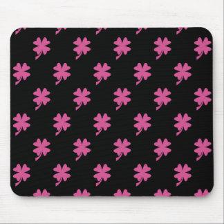 Trébol rosado tapete de ratón
