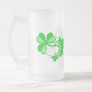 Trébol/taza de las flores taza de cristal