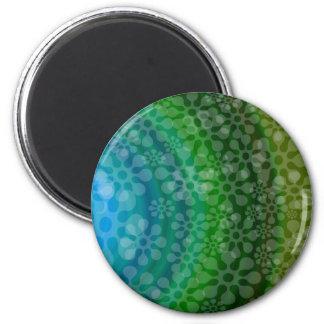 Trébol translúcido del diseño del arco iris de los imán redondo 5 cm