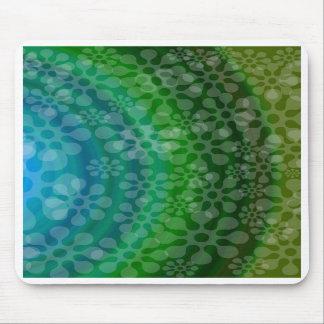 Trébol translúcido del diseño del arco iris de los tapete de ratones